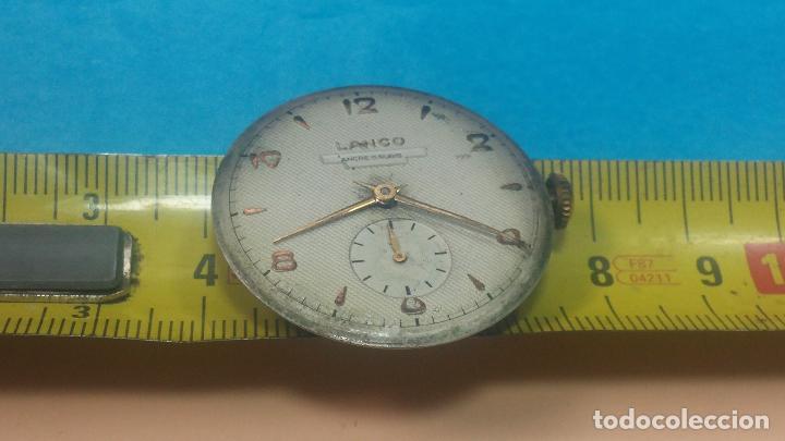 Relojes de pulsera: Botita Maquinaria de reloj de caballero LANCO, funciona muy bien, solo le falta la caja y cristal - Foto 23 - 121520455