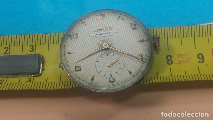 Relojes de pulsera: Botita Maquinaria de reloj de caballero LANCO, funciona muy bien, solo le falta la caja y cristal - Foto 24 - 121520455