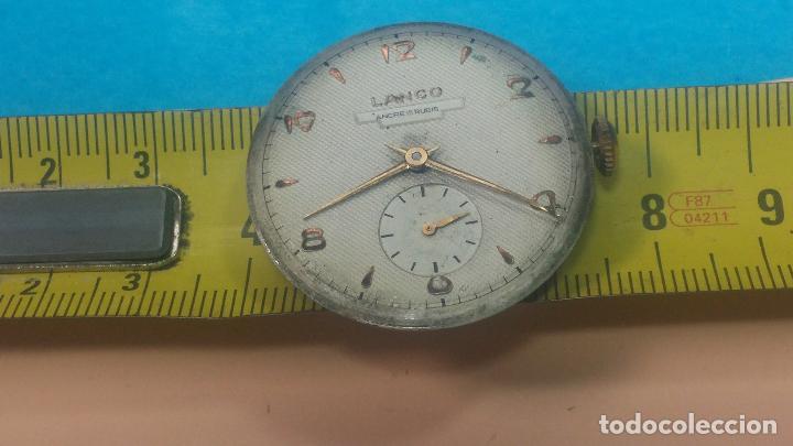 Relojes de pulsera: Botita Maquinaria de reloj de caballero LANCO, funciona muy bien, solo le falta la caja y cristal - Foto 25 - 121520455