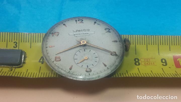 Relojes de pulsera: Botita Maquinaria de reloj de caballero LANCO, funciona muy bien, solo le falta la caja y cristal - Foto 26 - 121520455