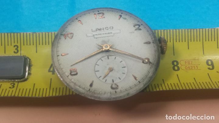 Relojes de pulsera: Botita Maquinaria de reloj de caballero LANCO, funciona muy bien, solo le falta la caja y cristal - Foto 27 - 121520455