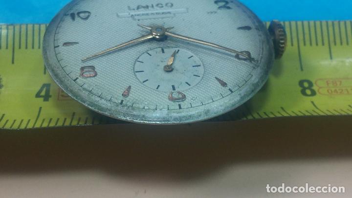 Relojes de pulsera: Botita Maquinaria de reloj de caballero LANCO, funciona muy bien, solo le falta la caja y cristal - Foto 28 - 121520455