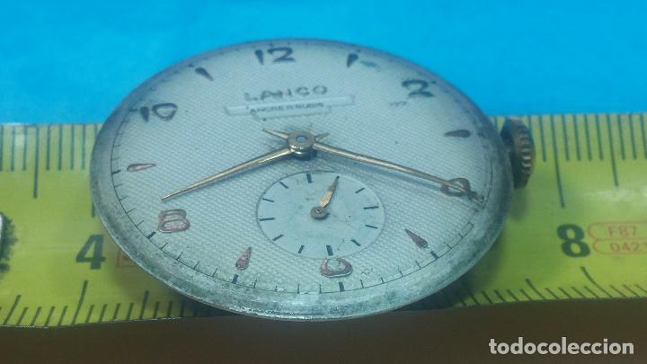 Relojes de pulsera: Botita Maquinaria de reloj de caballero LANCO, funciona muy bien, solo le falta la caja y cristal - Foto 29 - 121520455