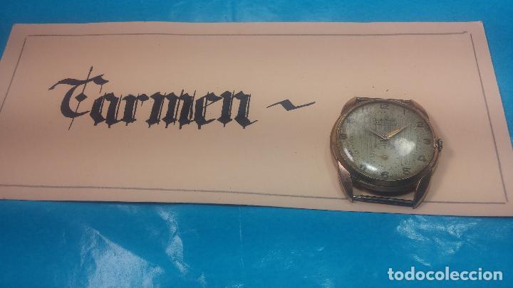 Relojes de pulsera: Botito y muy grande reloj CRISTAL WATCH LE COCLE 15 rubís, para reparar o piezas, linda caja chapada - Foto 2 - 121521087