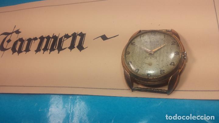 Relojes de pulsera: Botito y muy grande reloj CRISTAL WATCH LE COCLE 15 rubís, para reparar o piezas, linda caja chapada - Foto 5 - 121521087