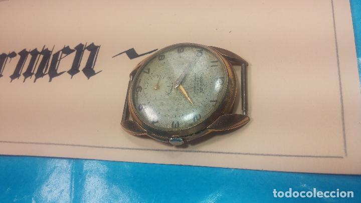 Relojes de pulsera: Botito y muy grande reloj CRISTAL WATCH LE COCLE 15 rubís, para reparar o piezas, linda caja chapada - Foto 8 - 121521087