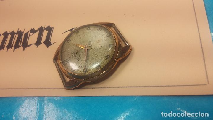Relojes de pulsera: Botito y muy grande reloj CRISTAL WATCH LE COCLE 15 rubís, para reparar o piezas, linda caja chapada - Foto 11 - 121521087