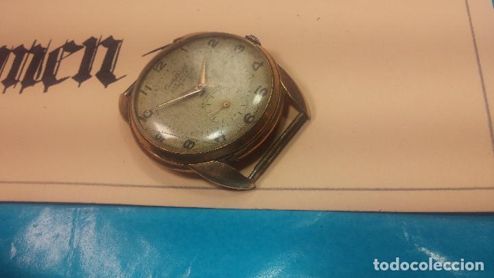 Relojes de pulsera: Botito y muy grande reloj CRISTAL WATCH LE COCLE 15 rubís, para reparar o piezas, linda caja chapada - Foto 13 - 121521087