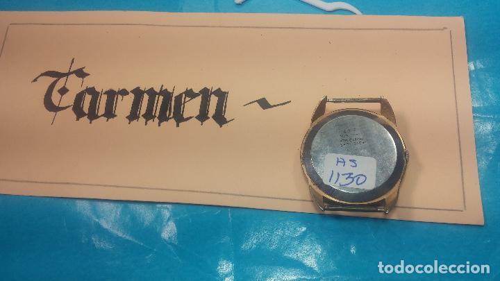 Relojes de pulsera: Botito y muy grande reloj CRISTAL WATCH LE COCLE 15 rubís, para reparar o piezas, linda caja chapada - Foto 22 - 121521087