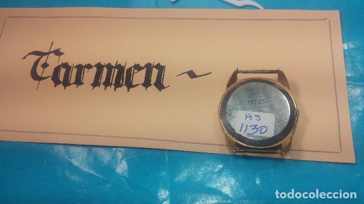 Relojes de pulsera: Botito y muy grande reloj CRISTAL WATCH LE COCLE 15 rubís, para reparar o piezas, linda caja chapada - Foto 23 - 121521087