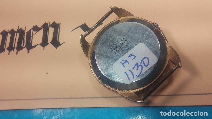 Relojes de pulsera: Botito y muy grande reloj CRISTAL WATCH LE COCLE 15 rubís, para reparar o piezas, linda caja chapada - Foto 25 - 121521087