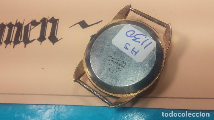 Relojes de pulsera: Botito y muy grande reloj CRISTAL WATCH LE COCLE 15 rubís, para reparar o piezas, linda caja chapada - Foto 26 - 121521087