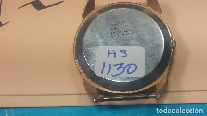 Relojes de pulsera: Botito y muy grande reloj CRISTAL WATCH LE COCLE 15 rubís, para reparar o piezas, linda caja chapada - Foto 27 - 121521087