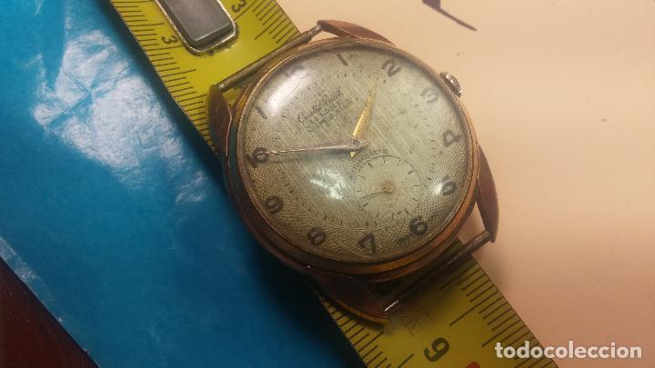Relojes de pulsera: Botito y muy grande reloj CRISTAL WATCH LE COCLE 15 rubís, para reparar o piezas, linda caja chapada - Foto 35 - 121521087