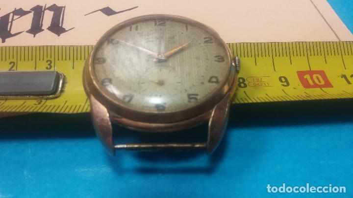 Relojes de pulsera: Botito y muy grande reloj CRISTAL WATCH LE COCLE 15 rubís, para reparar o piezas, linda caja chapada - Foto 38 - 121521087