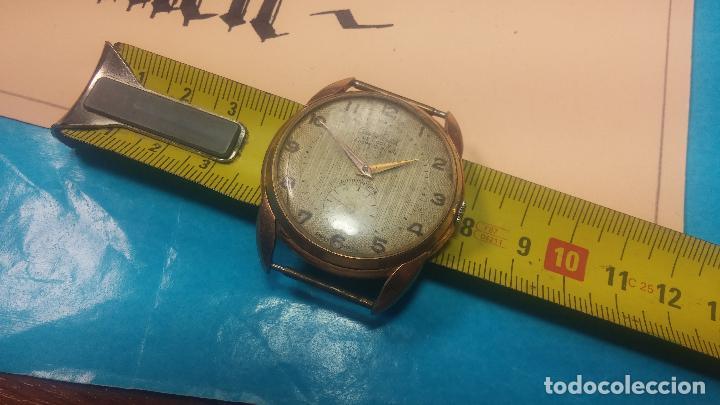 Relojes de pulsera: Botito y muy grande reloj CRISTAL WATCH LE COCLE 15 rubís, para reparar o piezas, linda caja chapada - Foto 39 - 121521087