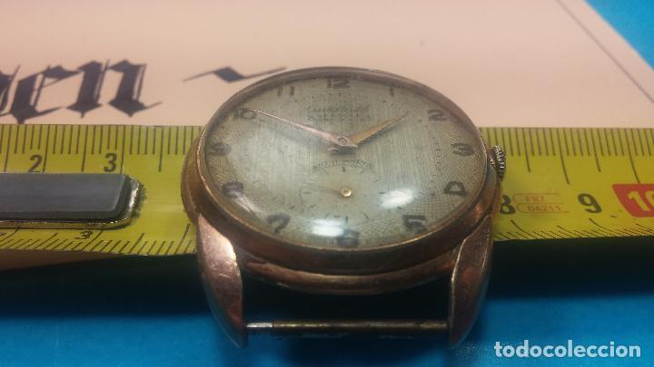 Relojes de pulsera: Botito y muy grande reloj CRISTAL WATCH LE COCLE 15 rubís, para reparar o piezas, linda caja chapada - Foto 40 - 121521087