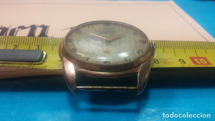 Relojes de pulsera: Botito y muy grande reloj CRISTAL WATCH LE COCLE 15 rubís, para reparar o piezas, linda caja chapada - Foto 41 - 121521087