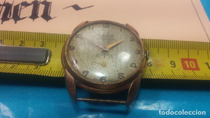 Relojes de pulsera: Botito y muy grande reloj CRISTAL WATCH LE COCLE 15 rubís, para reparar o piezas, linda caja chapada - Foto 42 - 121521087