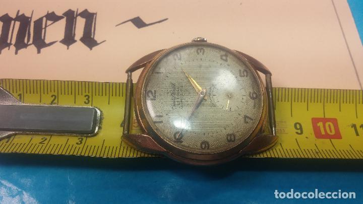 Relojes de pulsera: Botito y muy grande reloj CRISTAL WATCH LE COCLE 15 rubís, para reparar o piezas, linda caja chapada - Foto 43 - 121521087