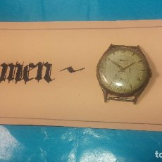 Relojes de pulsera: BOTITO Y GRANDE RELOJ HELVY, PARA REPARAR O PIEZAS, CON UNA LINDA ESFERA. Lote 121530823