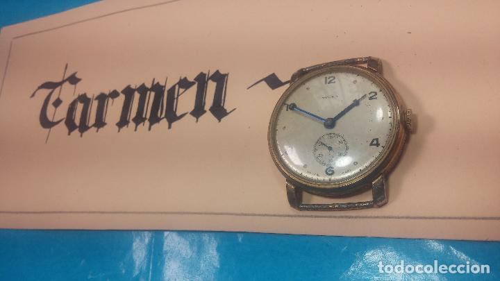 Relojes de pulsera: BOTITO Y MUY ANTIQUE RELOJ TECNA, PARA REPARAR O PIEZAS, CON UNAS LINDAS AGUJITAS AZULADAS - Foto 2 - 121532143