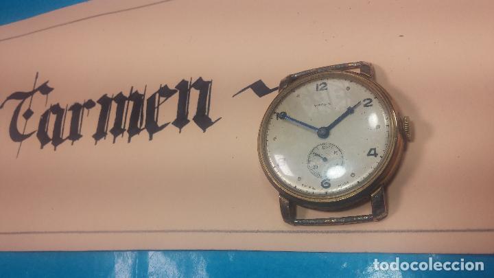 Relojes de pulsera: BOTITO Y MUY ANTIQUE RELOJ TECNA, PARA REPARAR O PIEZAS, CON UNAS LINDAS AGUJITAS AZULADAS - Foto 3 - 121532143