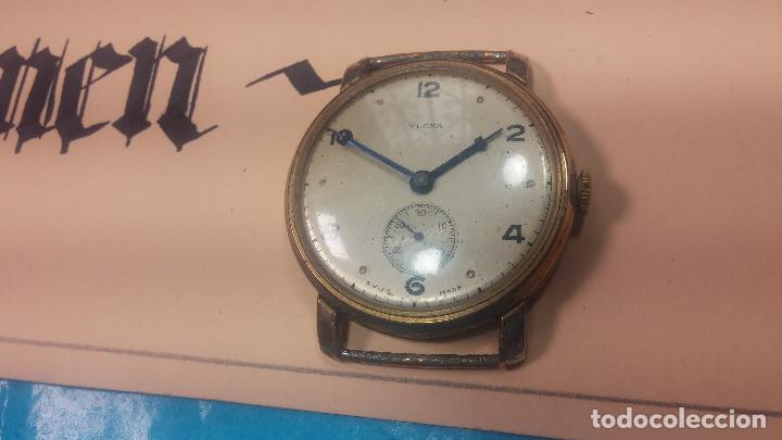 Relojes de pulsera: BOTITO Y MUY ANTIQUE RELOJ TECNA, PARA REPARAR O PIEZAS, CON UNAS LINDAS AGUJITAS AZULADAS - Foto 4 - 121532143