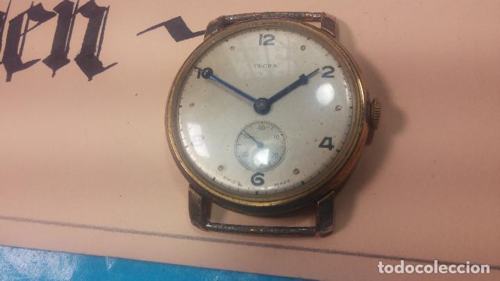 Relojes de pulsera: BOTITO Y MUY ANTIQUE RELOJ TECNA, PARA REPARAR O PIEZAS, CON UNAS LINDAS AGUJITAS AZULADAS - Foto 5 - 121532143