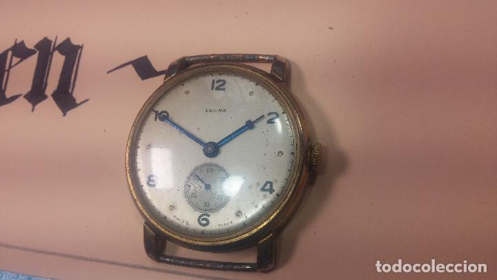 Relojes de pulsera: BOTITO Y MUY ANTIQUE RELOJ TECNA, PARA REPARAR O PIEZAS, CON UNAS LINDAS AGUJITAS AZULADAS - Foto 8 - 121532143