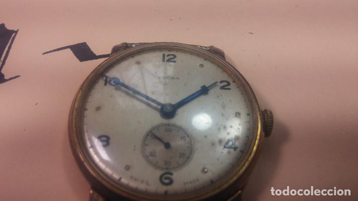 Relojes de pulsera: BOTITO Y MUY ANTIQUE RELOJ TECNA, PARA REPARAR O PIEZAS, CON UNAS LINDAS AGUJITAS AZULADAS - Foto 9 - 121532143