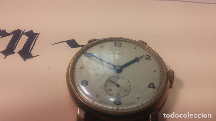 Relojes de pulsera: BOTITO Y MUY ANTIQUE RELOJ TECNA, PARA REPARAR O PIEZAS, CON UNAS LINDAS AGUJITAS AZULADAS - Foto 12 - 121532143