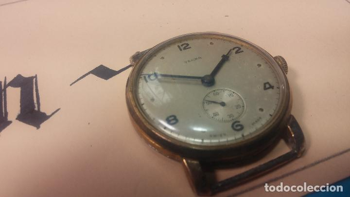 Relojes de pulsera: BOTITO Y MUY ANTIQUE RELOJ TECNA, PARA REPARAR O PIEZAS, CON UNAS LINDAS AGUJITAS AZULADAS - Foto 13 - 121532143