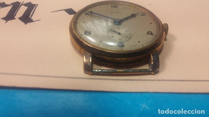 Relojes de pulsera: BOTITO Y MUY ANTIQUE RELOJ TECNA, PARA REPARAR O PIEZAS, CON UNAS LINDAS AGUJITAS AZULADAS - Foto 14 - 121532143