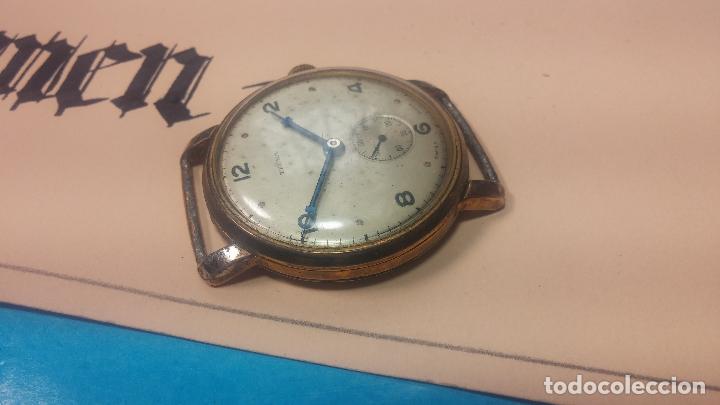 Relojes de pulsera: BOTITO Y MUY ANTIQUE RELOJ TECNA, PARA REPARAR O PIEZAS, CON UNAS LINDAS AGUJITAS AZULADAS - Foto 16 - 121532143
