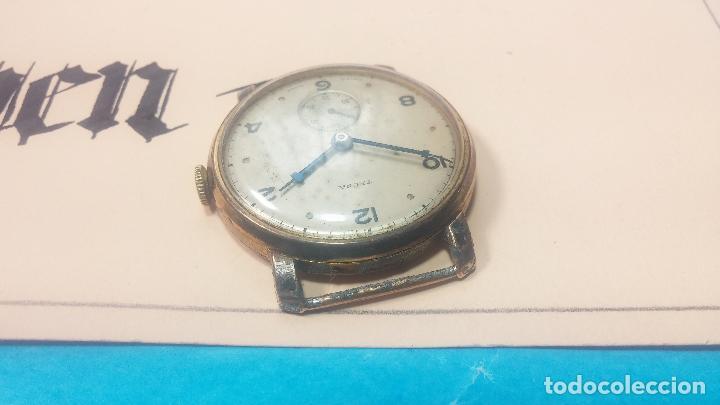 Relojes de pulsera: BOTITO Y MUY ANTIQUE RELOJ TECNA, PARA REPARAR O PIEZAS, CON UNAS LINDAS AGUJITAS AZULADAS - Foto 17 - 121532143