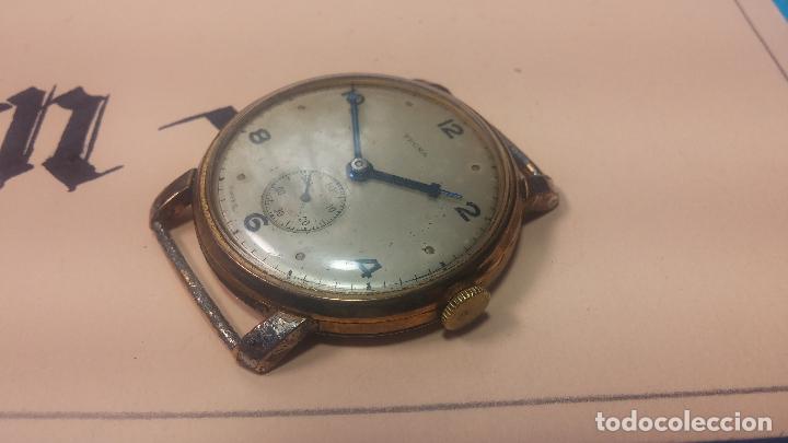 Relojes de pulsera: BOTITO Y MUY ANTIQUE RELOJ TECNA, PARA REPARAR O PIEZAS, CON UNAS LINDAS AGUJITAS AZULADAS - Foto 18 - 121532143