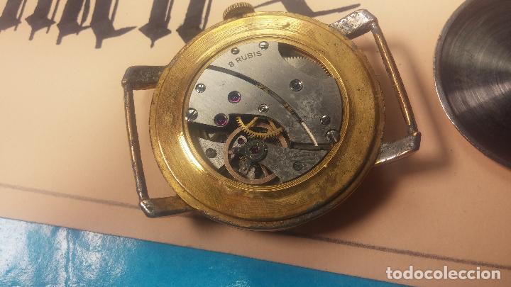 Relojes de pulsera: BOTITO Y MUY ANTIQUE RELOJ TECNA, PARA REPARAR O PIEZAS, CON UNAS LINDAS AGUJITAS AZULADAS - Foto 20 - 121532143