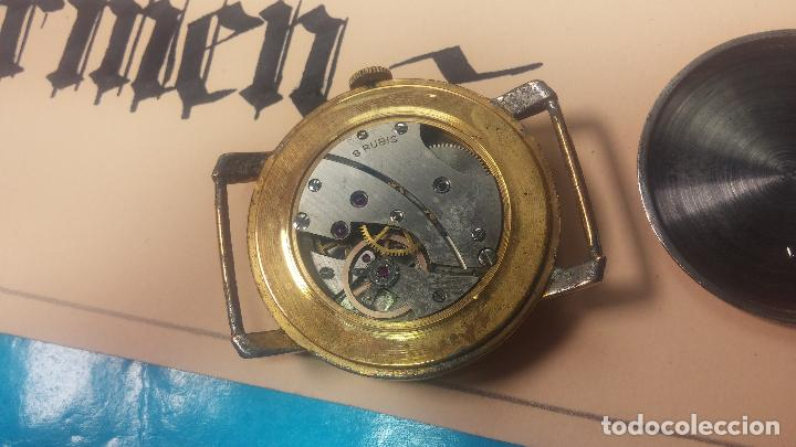 Relojes de pulsera: BOTITO Y MUY ANTIQUE RELOJ TECNA, PARA REPARAR O PIEZAS, CON UNAS LINDAS AGUJITAS AZULADAS - Foto 23 - 121532143