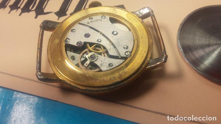 Relojes de pulsera: BOTITO Y MUY ANTIQUE RELOJ TECNA, PARA REPARAR O PIEZAS, CON UNAS LINDAS AGUJITAS AZULADAS - Foto 24 - 121532143