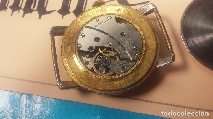 Relojes de pulsera: BOTITO Y MUY ANTIQUE RELOJ TECNA, PARA REPARAR O PIEZAS, CON UNAS LINDAS AGUJITAS AZULADAS - Foto 25 - 121532143