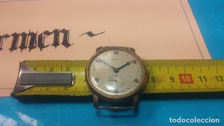 Relojes de pulsera: BOTITO Y MUY ANTIQUE RELOJ TECNA, PARA REPARAR O PIEZAS, CON UNAS LINDAS AGUJITAS AZULADAS - Foto 26 - 121532143