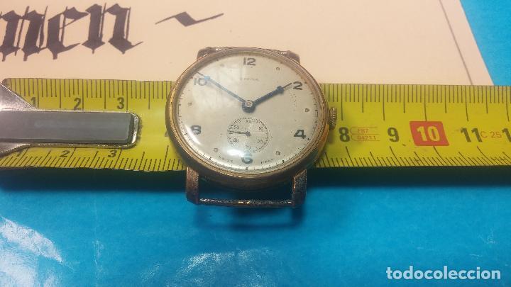 Relojes de pulsera: BOTITO Y MUY ANTIQUE RELOJ TECNA, PARA REPARAR O PIEZAS, CON UNAS LINDAS AGUJITAS AZULADAS - Foto 27 - 121532143