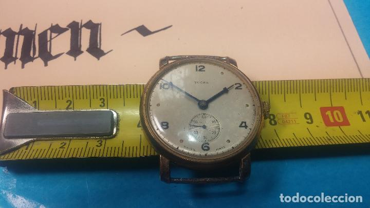 Relojes de pulsera: BOTITO Y MUY ANTIQUE RELOJ TECNA, PARA REPARAR O PIEZAS, CON UNAS LINDAS AGUJITAS AZULADAS - Foto 29 - 121532143