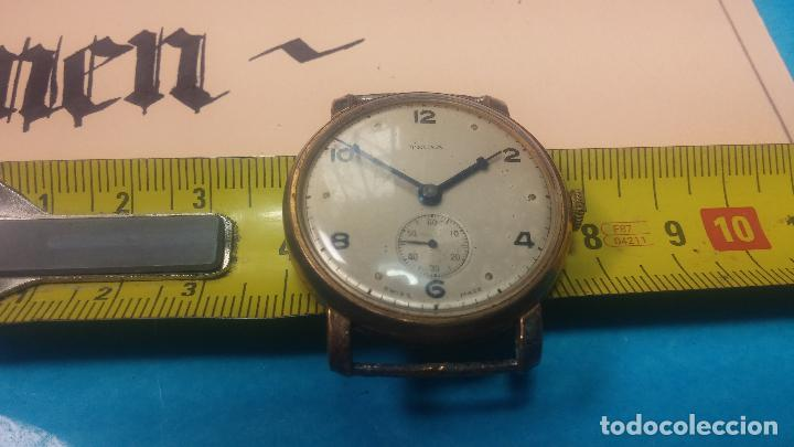 Relojes de pulsera: BOTITO Y MUY ANTIQUE RELOJ TECNA, PARA REPARAR O PIEZAS, CON UNAS LINDAS AGUJITAS AZULADAS - Foto 31 - 121532143