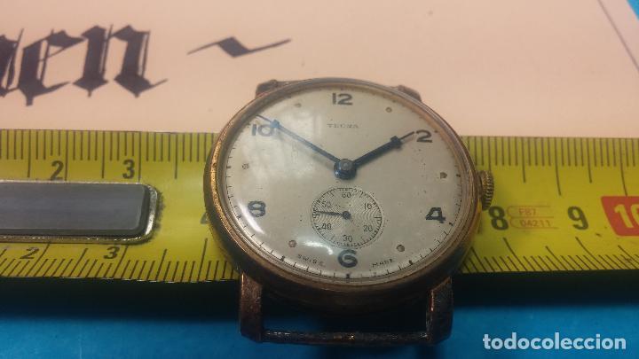 Relojes de pulsera: BOTITO Y MUY ANTIQUE RELOJ TECNA, PARA REPARAR O PIEZAS, CON UNAS LINDAS AGUJITAS AZULADAS - Foto 33 - 121532143