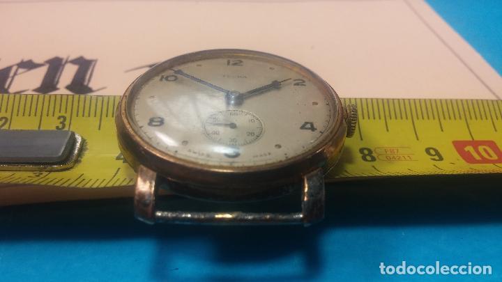 Relojes de pulsera: BOTITO Y MUY ANTIQUE RELOJ TECNA, PARA REPARAR O PIEZAS, CON UNAS LINDAS AGUJITAS AZULADAS - Foto 35 - 121532143