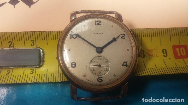 Relojes de pulsera: BOTITO Y MUY ANTIQUE RELOJ TECNA, PARA REPARAR O PIEZAS, CON UNAS LINDAS AGUJITAS AZULADAS - Foto 36 - 121532143