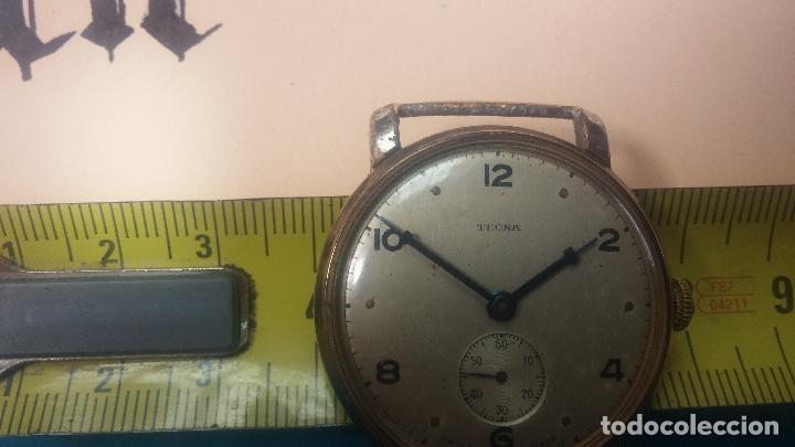 Relojes de pulsera: BOTITO Y MUY ANTIQUE RELOJ TECNA, PARA REPARAR O PIEZAS, CON UNAS LINDAS AGUJITAS AZULADAS - Foto 37 - 121532143