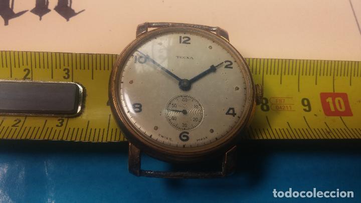 Relojes de pulsera: BOTITO Y MUY ANTIQUE RELOJ TECNA, PARA REPARAR O PIEZAS, CON UNAS LINDAS AGUJITAS AZULADAS - Foto 38 - 121532143